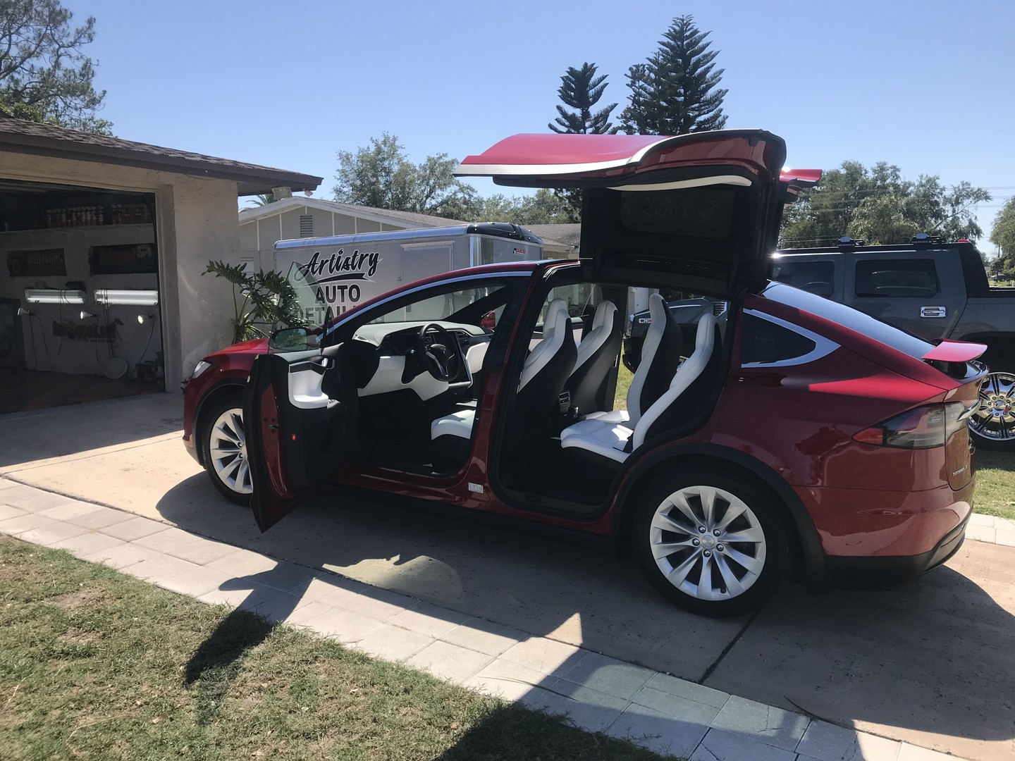 2018 Tesla Model X coated with Crystal Serum Ultra