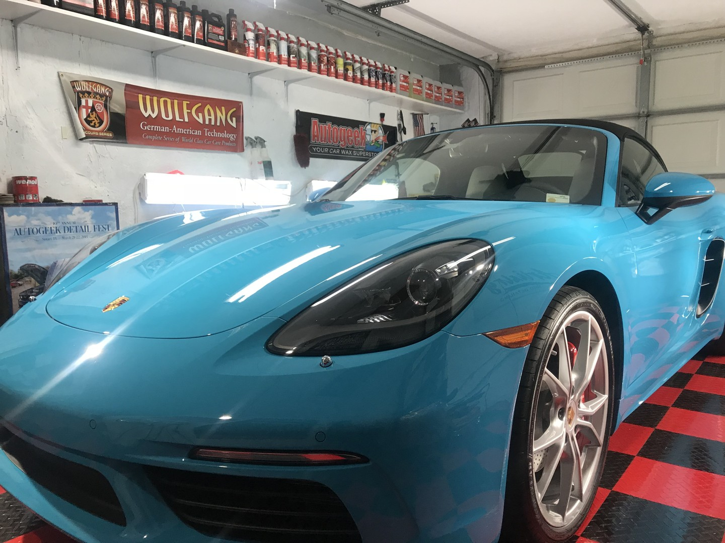 2018 Porsche Boxster coated with Crystal Serum Ultra