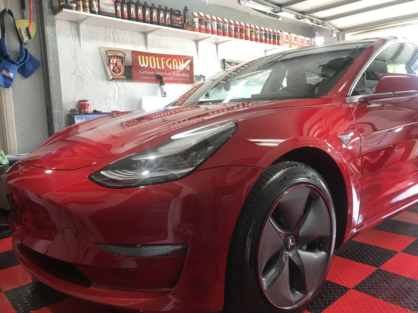 2018 Tesla Model 3 coated with Crystal Serum Ultra