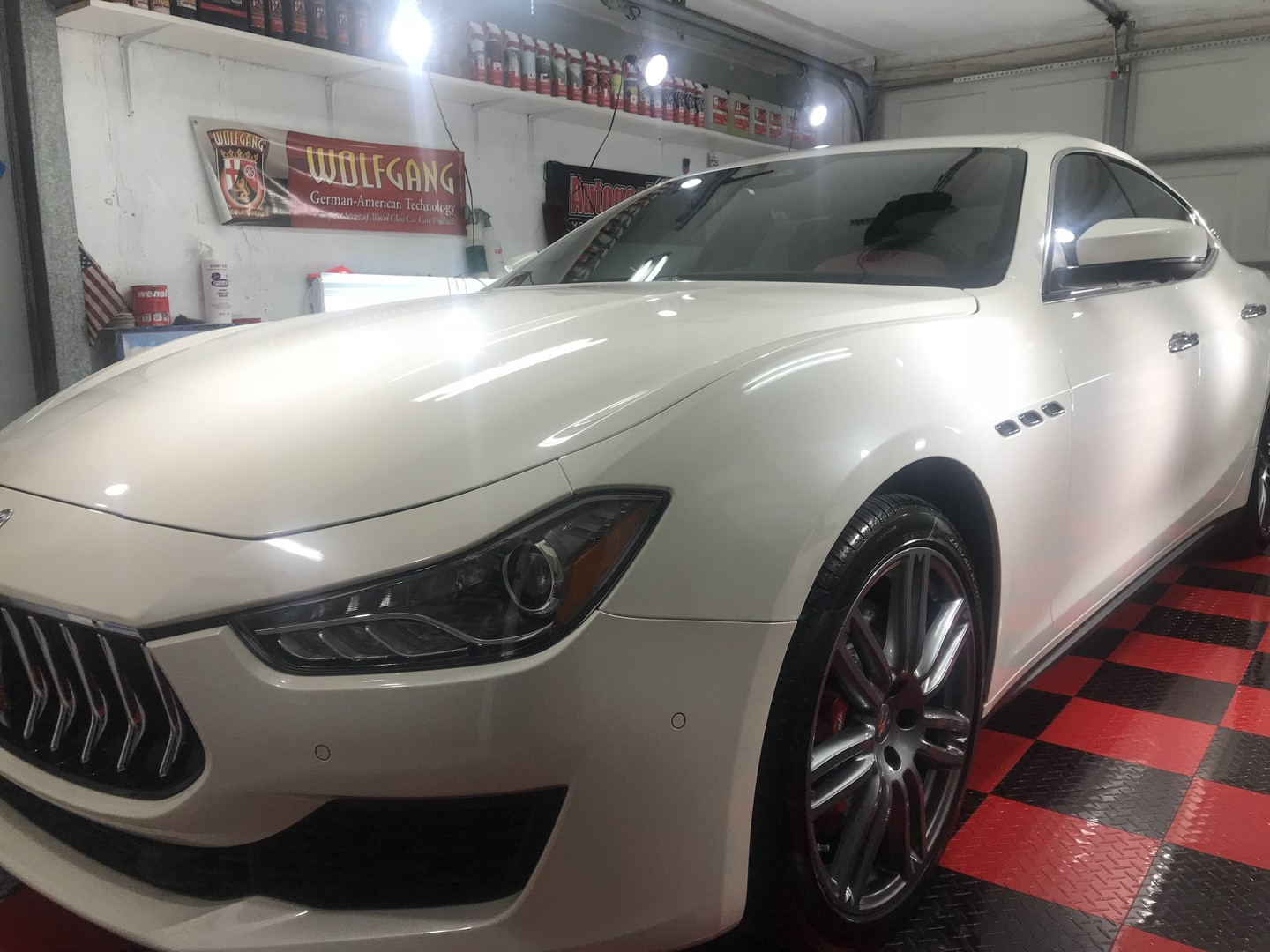 2018 Maserati coated with Crystal Serum Ultra